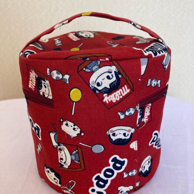 レトロペコちゃん 丸バニティ ハンドメイドのファッション小物(ポーチ)の商品写真