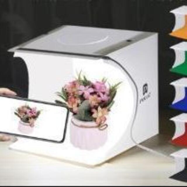 撮影ボックス LED照明 撮影キット 折りたたみ式 スマホ/家電/カメラのカメラ(その他)の商品写真