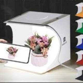 撮影ボックス LED照明 撮影キット 折りたたみ式