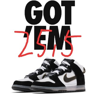 NIKE - SLAM JAM X NIKE DUNK HIGH CLEAR BLACK