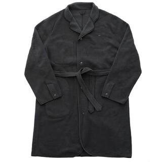 コモリ(COMOLI)のポータークラシック Phaeton別注 フリース ガウン Lサイズ ブラック(ステンカラーコート)