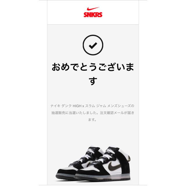 NIKE(ナイキ)のSLAM JAM X NIKE DUNK HIGH CLEAR BLACK メンズの靴/シューズ(スニーカー)の商品写真