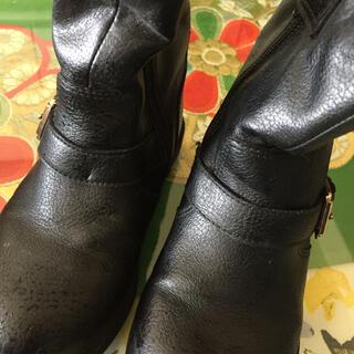 エイチアンドエム(H&M)のH&M kidsブーツ 黒 17㎝ USED(ブーツ)