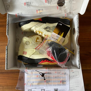 ナイキ(NIKE)のOff-White × Nike Air Jordan 5 Sail PS(スニーカー)