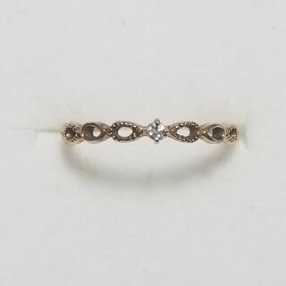 【ジュエッテ】K10YG ダイヤモンドピンキーリング(リング(指輪))