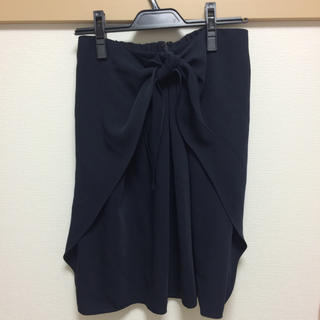 デミルクスビームス(Demi-Luxe BEAMS)のビームス ネイビースカート(ひざ丈スカート)