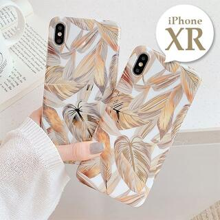 iPhoneXR〔ボタニカルゴールドiPhoneケース〕カバー