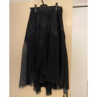 サカイ(sacai)のsacai プリーツスカート サイズ3(ひざ丈スカート)