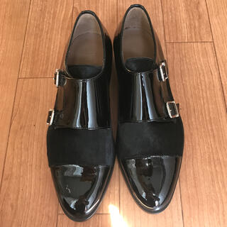 レペット(repetto)のペルティニ ダブルモンク エナメルシューズ 23  断捨離中(ローファー/革靴)