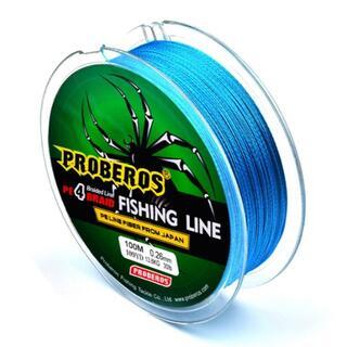 PEライン 高強度 PRO 0.8号 10lb/100m巻き カラーブルー(釣り糸/ライン)