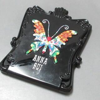 アナスイ(ANNA SUI)のアナスイ ミラー美品  黒×白×マルチ 花柄(ミラー)