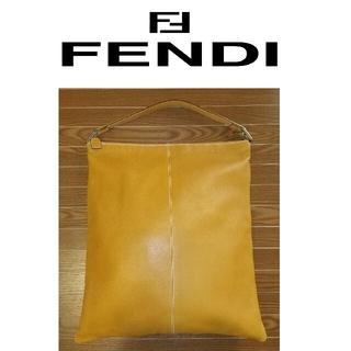 フェンディ(FENDI)の大幅値下げ  FENDI トートバッグ 男女兼用 イエロー 高級レザー使用(トートバッグ)