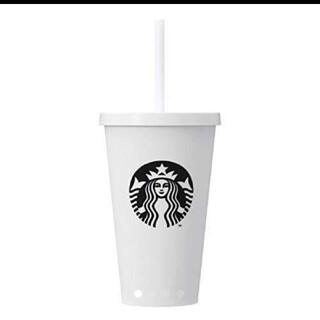 Starbucks Coffee - スターバックス☆ストロー付きコールドカップタンブラー473ml☆スタバ