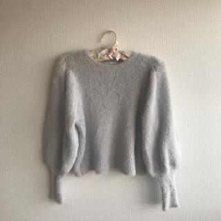 エヌナチュラルビューティーベーシック(N.Natural beauty basic)のボリューム袖シャギーニット(ニット/セーター)