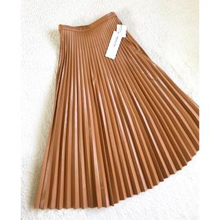 DEUXIEME CLASSE - 定価20900円 MARECHAL TERRE レザープリーツロングスカート