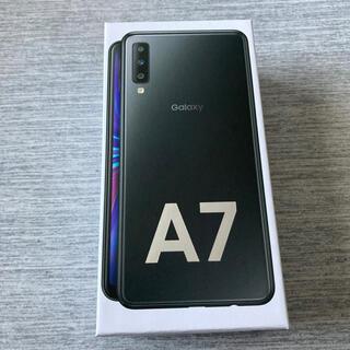 Galaxy - GALAXY A7 ブラック 楽天モバイル SIMフリー 新品同様品