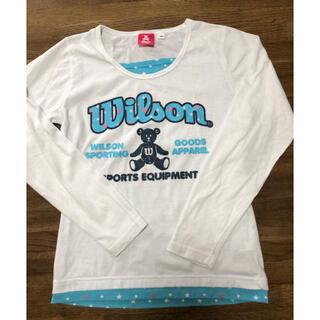 ウィルソン(wilson)のWilson ウィルソン 長袖Tシャツ 160 ホワイト(Tシャツ/カットソー)