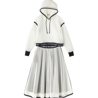 DOUBLE STANDARD CLOTHING - essential ダブスタ セットアップ メッシュ パーカー スカート