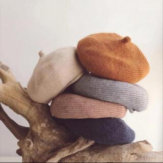 ベレー帽 アイボリー ベージュ ニット帽 韓国子供服 韓国子ども服