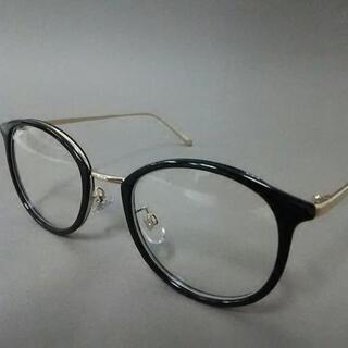 ミラオーウェン(Mila Owen)のミラオーウェン メガネ美品  黒×ゴールド(サングラス/メガネ)