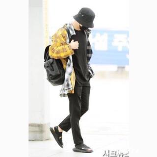 【再入荷‼︎】BTS 着用♪ チェックシャツ 長袖 韓国 ユニセックス