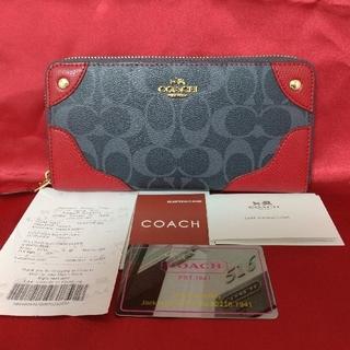 COACH - 新品未使用品★コーチ ラウンドファスナー長財布 シグネチャー 53780