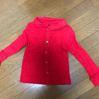 グラニフ(Design Tshirts Store graniph)のグラリフ ボタンが可愛い♡ カーディガン 赤 130 お値下げ☆(カーディガン)