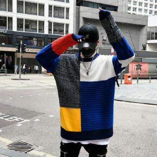 メンズ ストリート系 セーター 大き目サイズ ビックサイズ ニット(ニット/セーター)