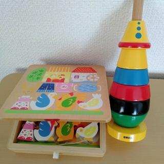 BRIO - Sevi☆BRIO☆知育玩具 積み木パズル二点セット❀お値下げ交渉コメントで◎