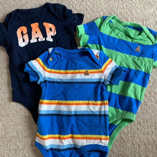 babyGAP(ベビーギャップ)のbaby GAP ロンパース 3点セット キッズ/ベビー/マタニティのベビー服(~85cm)(ロンパース)の商品写真