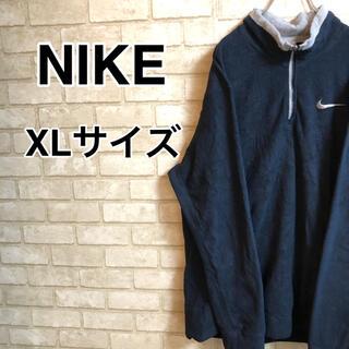 ナイキ(NIKE)のNIKE   ナイキハーフジップフリーススウェット XLサイズ(スウェット)