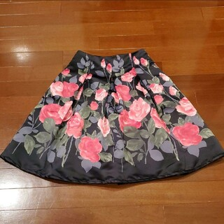 M'S GRACY - エムズグレイシー バラ サテン生地 スカート 38