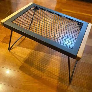 メッシュテーブル アイアン ブラック 新品未使用