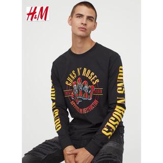 エイチアンドエム(H&M)の新品 安値 H&M × GUNS N ROSES ロンTシャツ XL(Tシャツ/カットソー(七分/長袖))