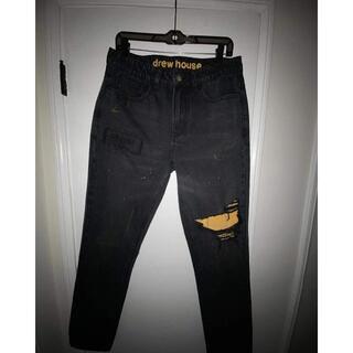 DREW HOUSE ブラック デニムパンツ XL(デニム/ジーンズ)