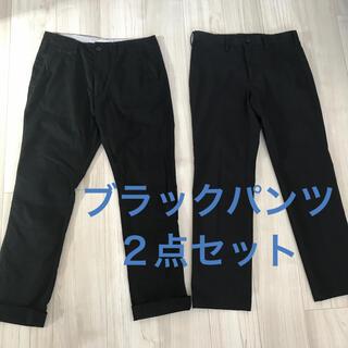 ムジルシリョウヒン(MUJI (無印良品))のメンズ パンツ Mサイズ ブラック2点セット 無印良品・STEEL BRAWN(ワークパンツ/カーゴパンツ)