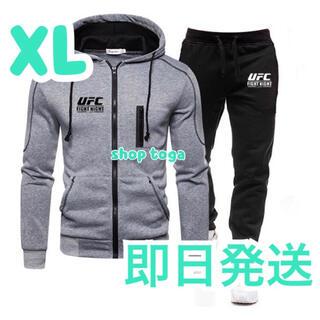 【最安値】UFC  セットアップ  ロングパンツ セット XL グレー(スウェット)
