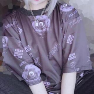 MILKBOY - KRY BARADARAKE 薄紫薔薇 BIG Tシャツ   薔薇 ROSE