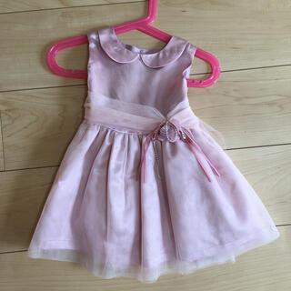 マザウェイズ(motherways)のマザーウェイズ ドレス 女の子 ピンク リボン 83(セレモニードレス/スーツ)