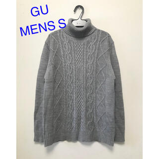 GU - GU ケーブルタートルネックセーター メンズS