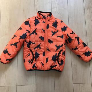 ブルーマート 男の子 ダウンジャケット 110 オレンジ 恐竜(ジャケット/上着)