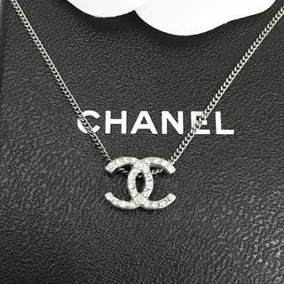 CHANEL - 正規品 シャネル ネックレス シルバー ココマーク 両面 ラインストーン ロゴ2