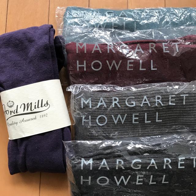 MARGARET HOWELL(マーガレットハウエル)のMARGARET HOWELL4足とANGLOBAL SHOPタイツ レディースのレッグウェア(タイツ/ストッキング)の商品写真