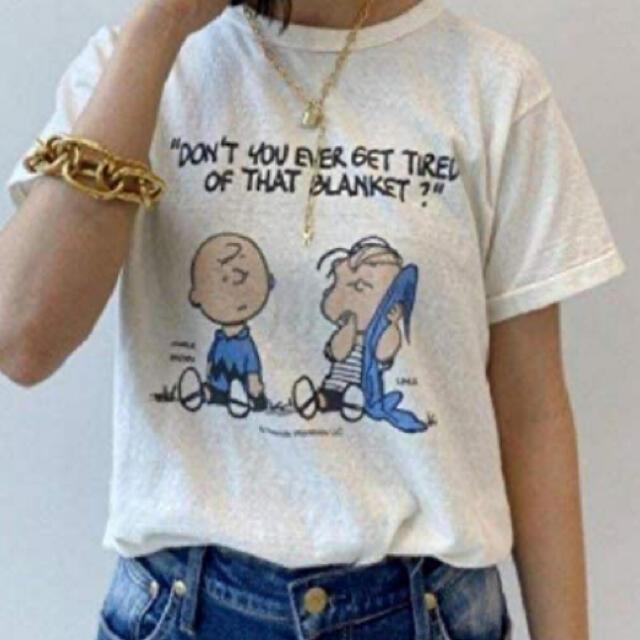 DEUXIEME CLASSE(ドゥーズィエムクラス)のチャーリーブラウン Tシャツ レディースのトップス(Tシャツ(半袖/袖なし))の商品写真