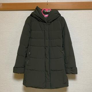 PLST - フレンチダウンフーデッドミドル丈コート