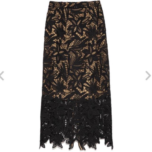 FRAY I.D(フレイアイディー)のフライアイディー/ケミカルレースタイトスカート レディースのスカート(ひざ丈スカート)の商品写真