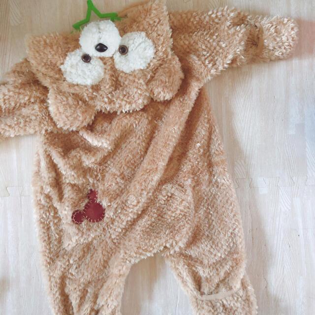 ダッフィー 着ぐるみ 90cm キッズ/ベビー/マタニティのベビー服(~85cm)(ロンパース)の商品写真