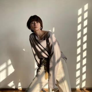 【CLANE】完売品 新品 レイヤードロングスリーブ 松本恵奈着用 ベージュ(Tシャツ(長袖/七分))