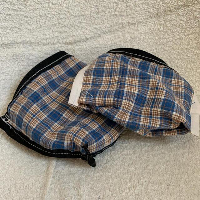 スヌーピーの白黒ミニポーチ ハンドメイドのファッション小物(ポーチ)の商品写真