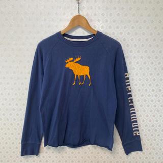 アバクロンビーアンドフィッチ(Abercrombie&Fitch)の⭕️アバクロンビー⭕️レディース⭕️長袖Tシャツ⭕️ヴィンテージ風合/ネイビー(Tシャツ(長袖/七分))